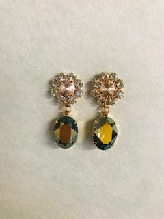 green light earrings
